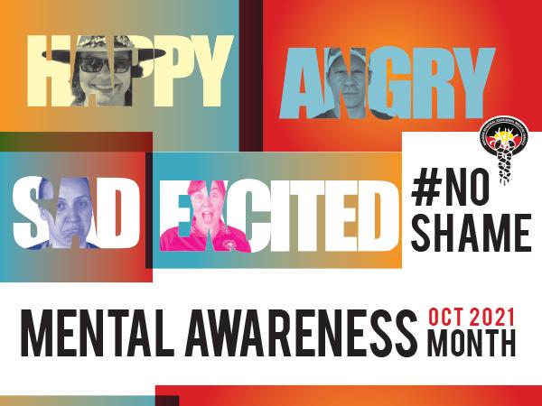 #NOSHAME ~ OCT is Mental Awareness Month