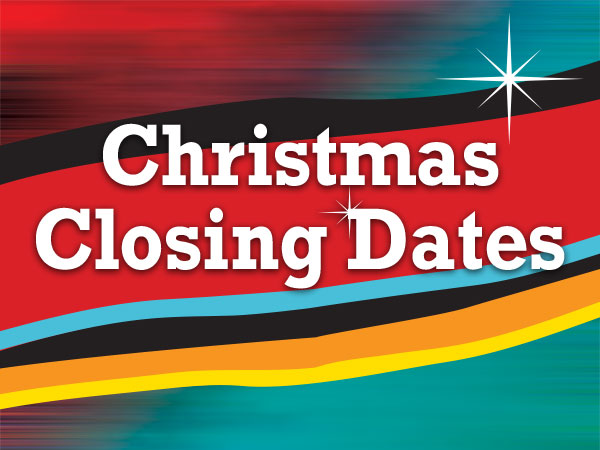 BRAMS Christmas Closing Hours